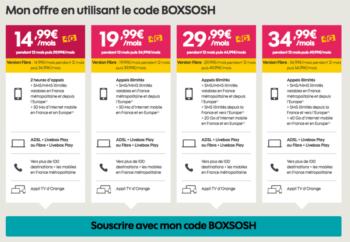 Forfait Box Internet Et Mobil Sosh